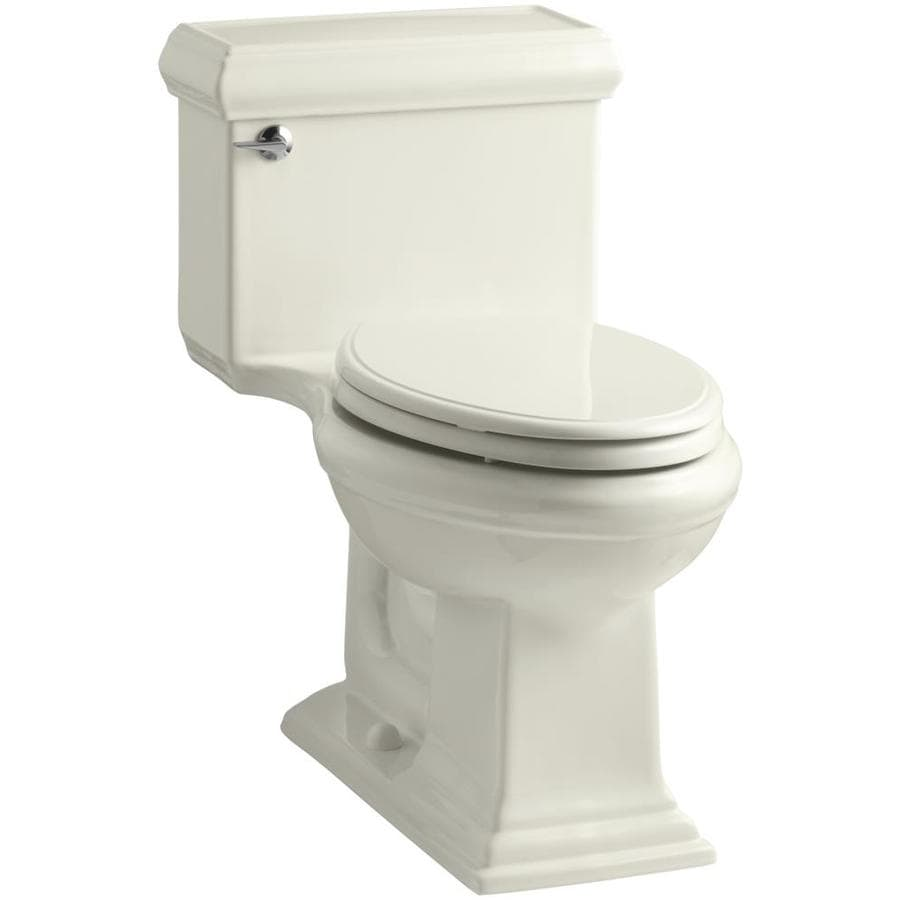KOHLER Memoirs 1.28-GPF (4.85-LPF) Biscuit WaterSense Elongated Chair Height 1-Piece Toilet
