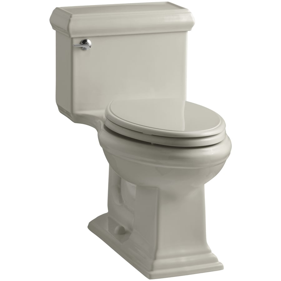 KOHLER Memoirs Sandbar WaterSense Labeled  Elongated Chair Height 1-piece Toilet 12-in Rough-In Size