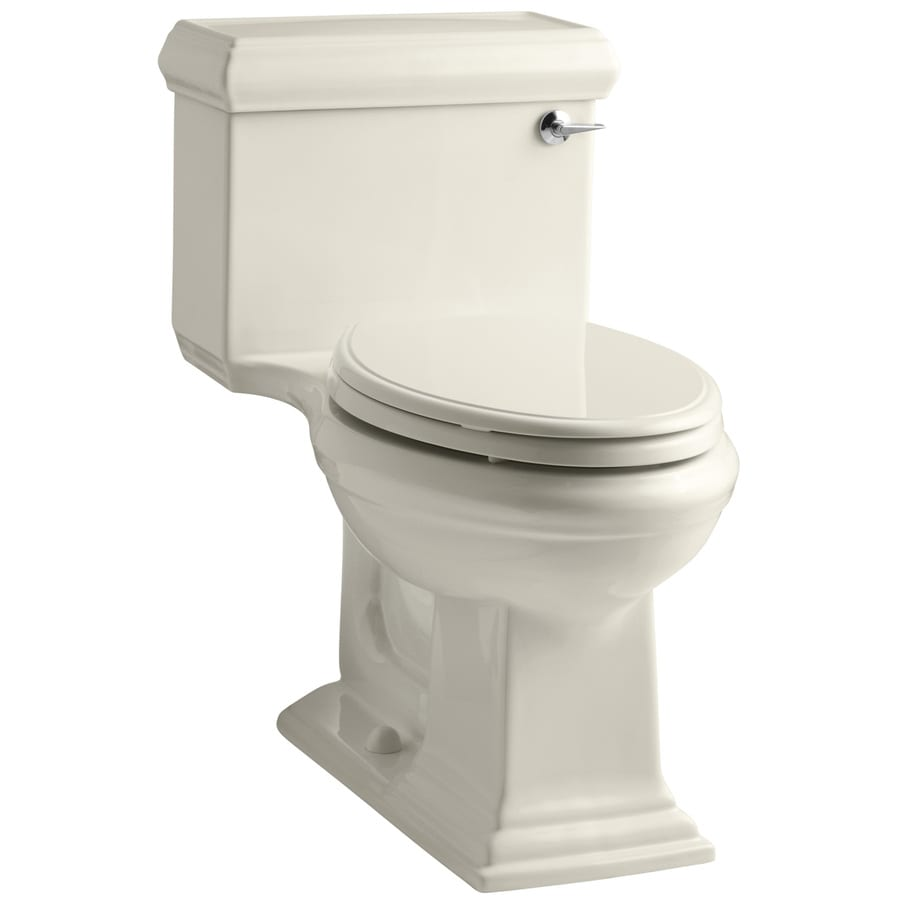KOHLER Memoirs 1.28-GPF (4.85-LPF) Almond WaterSense Elongated Chair Height 1-Piece Toilet