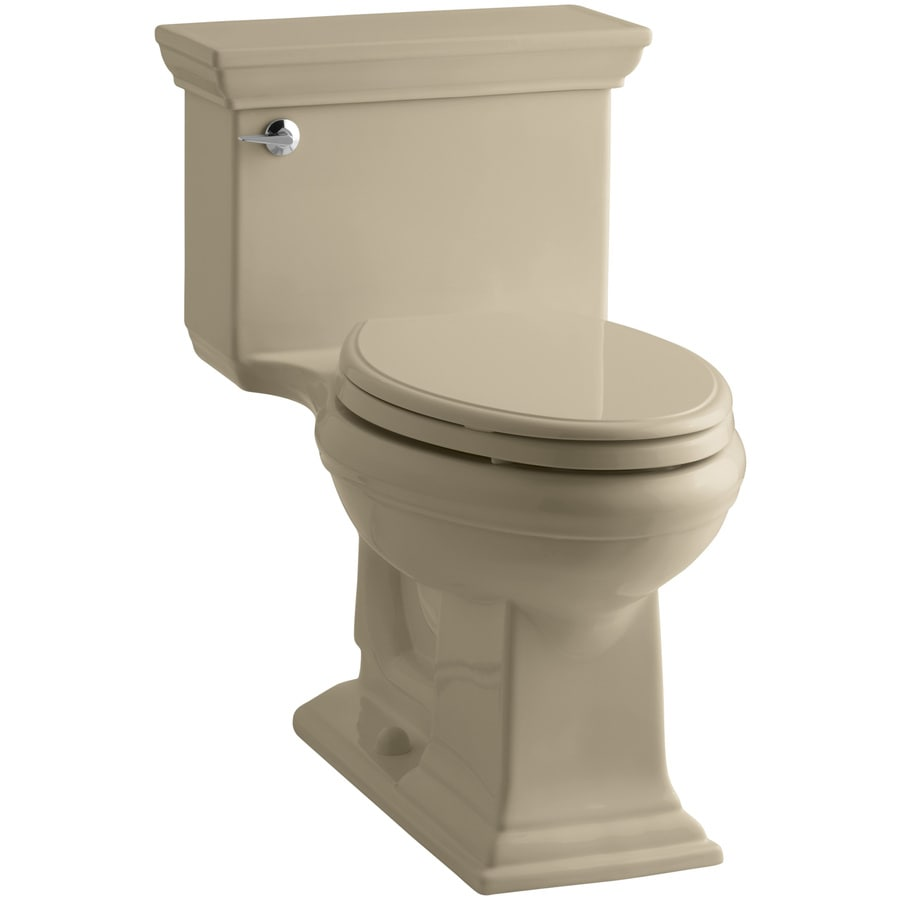 KOHLER Memoirs 1.28-GPF Mexican Sand WaterSense Elongated Chair Height 1-Piece Toilet