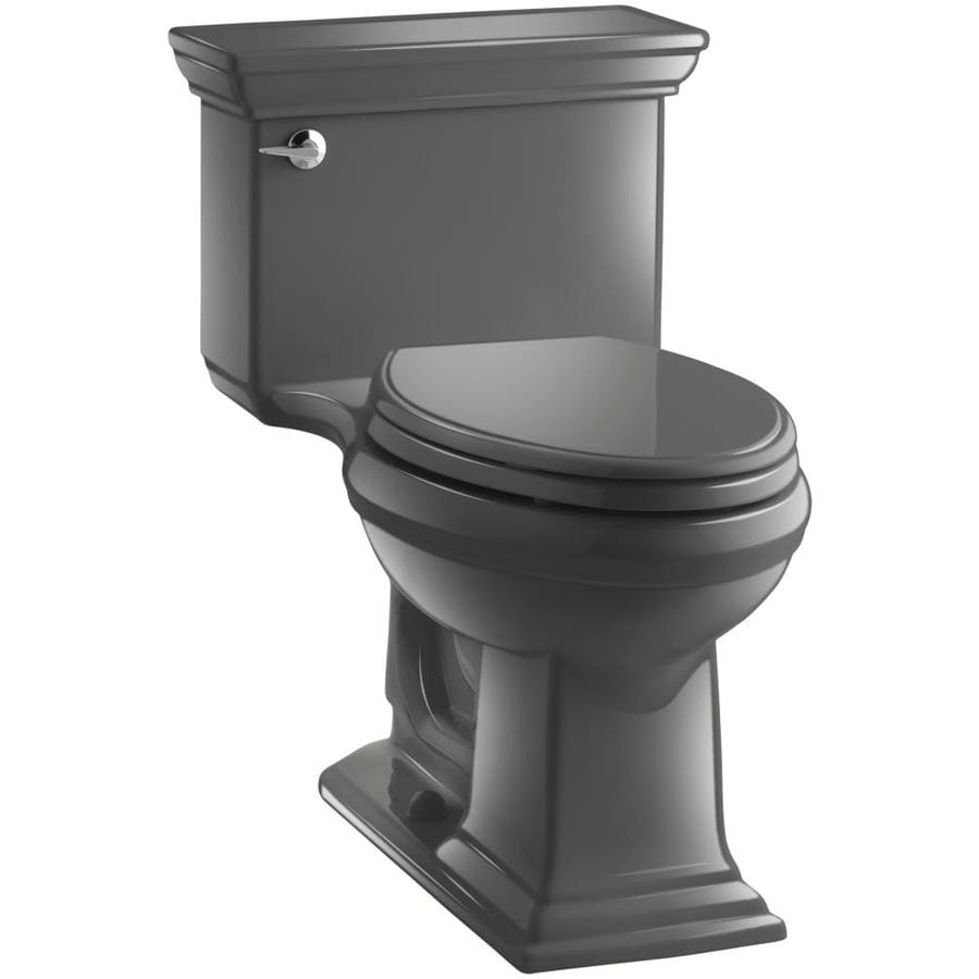 KOHLER Memoirs Thunder Grey WaterSense Labeled  Elongated Chair Height 1-piece Toilet 12-in Rough-In Size