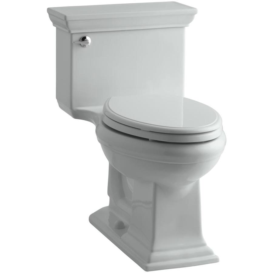 KOHLER Memoirs Ice Grey WaterSense Labeled  Elongated Chair Height 1-piece Toilet 12-in Rough-In Size