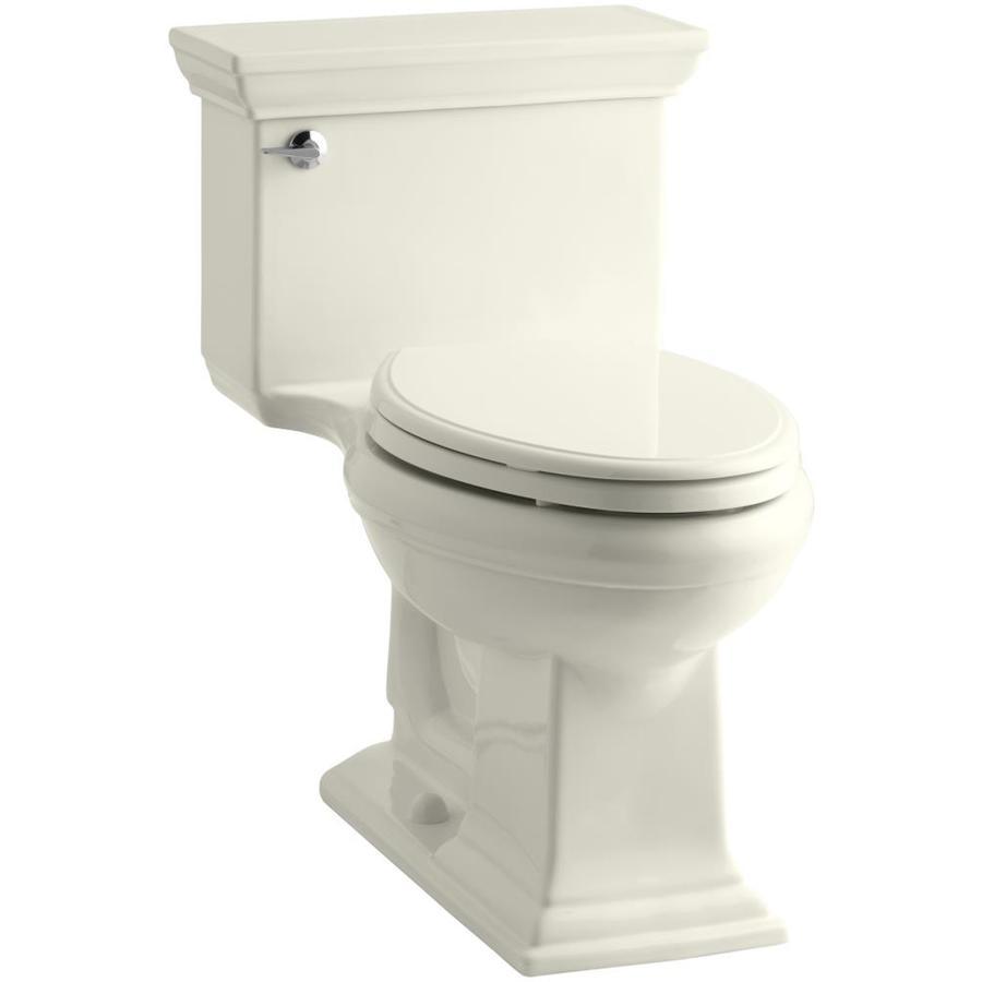 KOHLER Memoirs 1.28-GPF (4.85-LPF) Biscuit WaterSense Elongated Chair Height 1-Piece Toilet