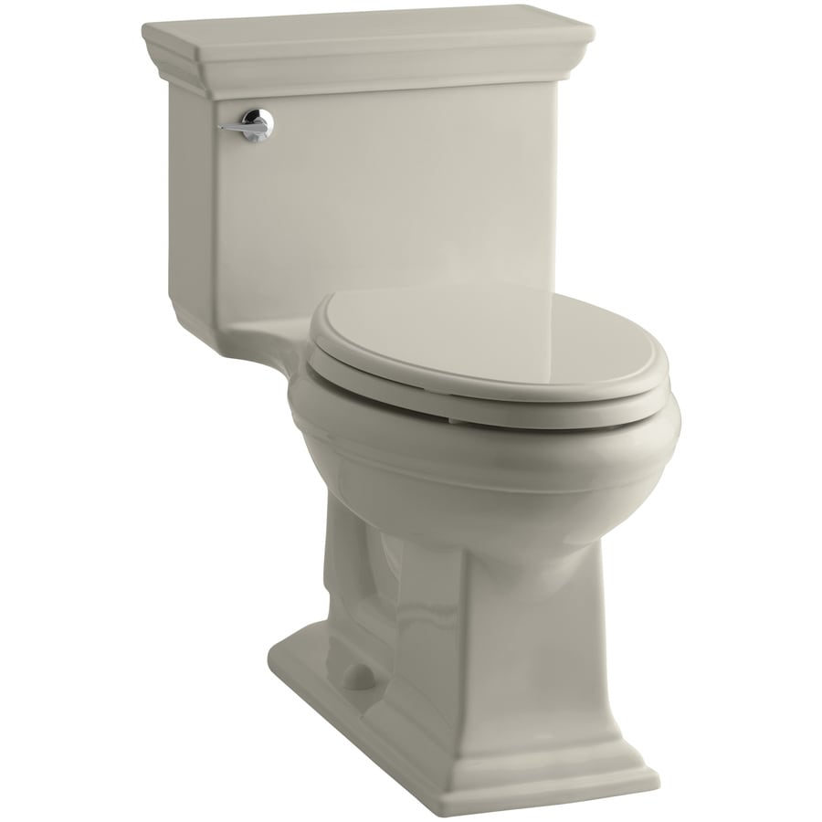 KOHLER Memoirs 1.28-GPF (4.85-LPF) Sandbar Elongated Chair Height 1-piece Toilet