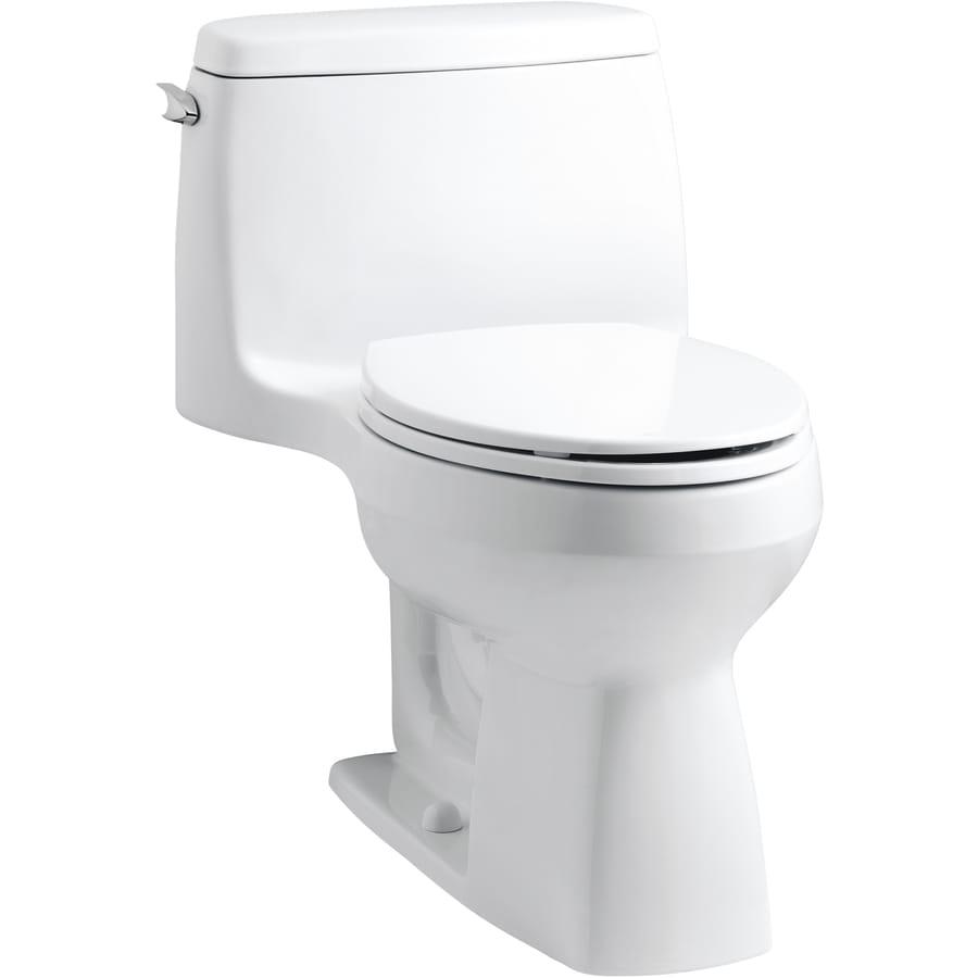 Kohler Santa Rosa >> Shop KOHLER Santa Rosa White Elongated Chair Height 1-piece Toilet 12-in Rough-In Size at Lowes.com