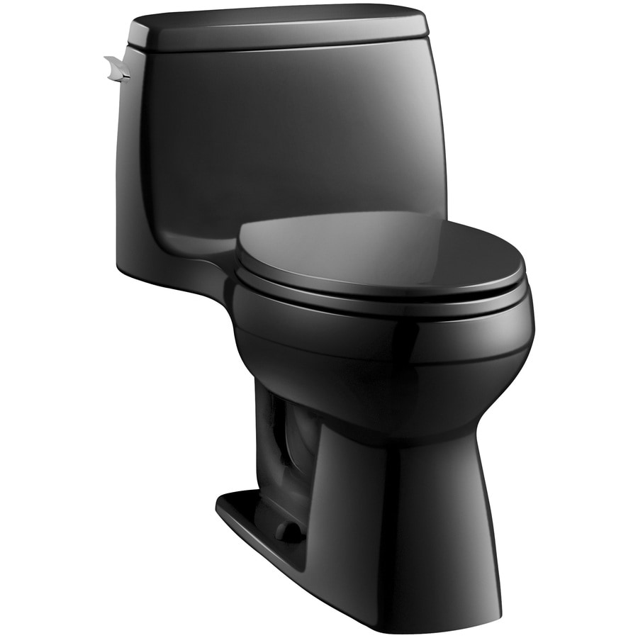 KOHLER Santa Rosa 1.6-GPF (6.06-LPF) Black Black Elongated Chair Height 1-piece Toilet