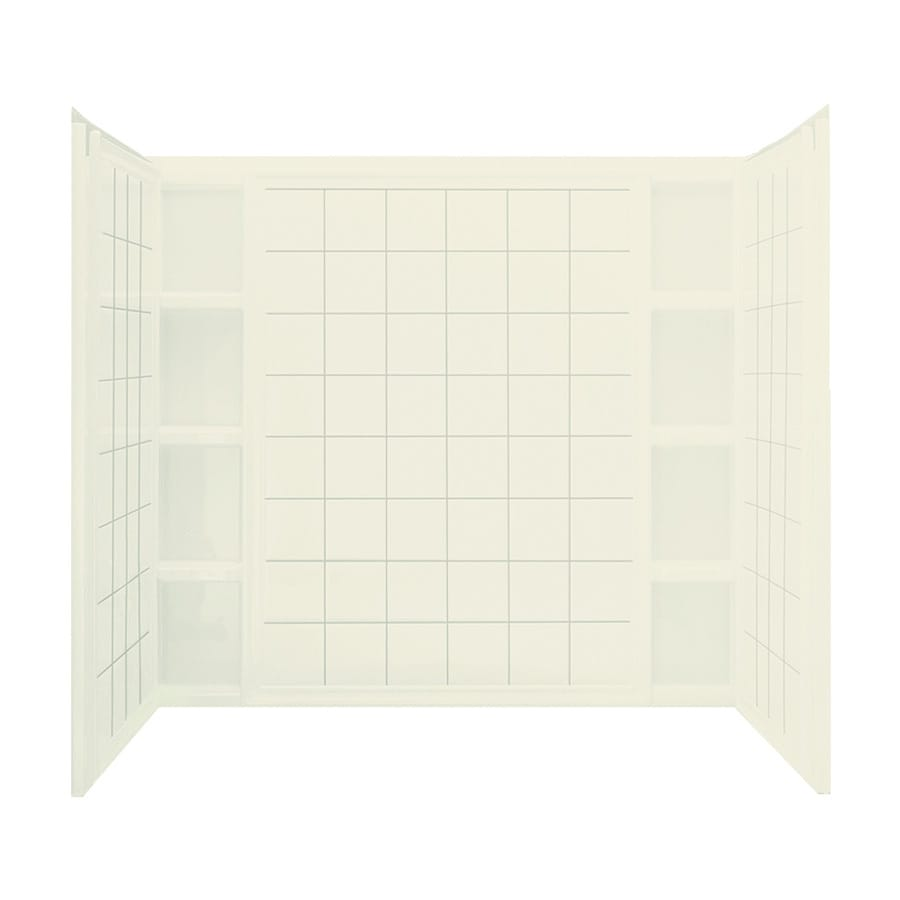 Sterling Ensemble Biscuit Vikrell Bathtub Wall Surround (Common: 60-in x 36-in; Actual: 54.25-in x 60-in x 37.5-in)
