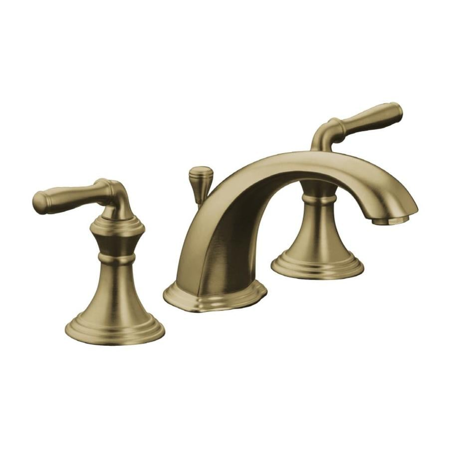 Shop KOHLER Devonshire Vibrant Brushed Bronze Handle Widespread - Devonshire bathroom faucet