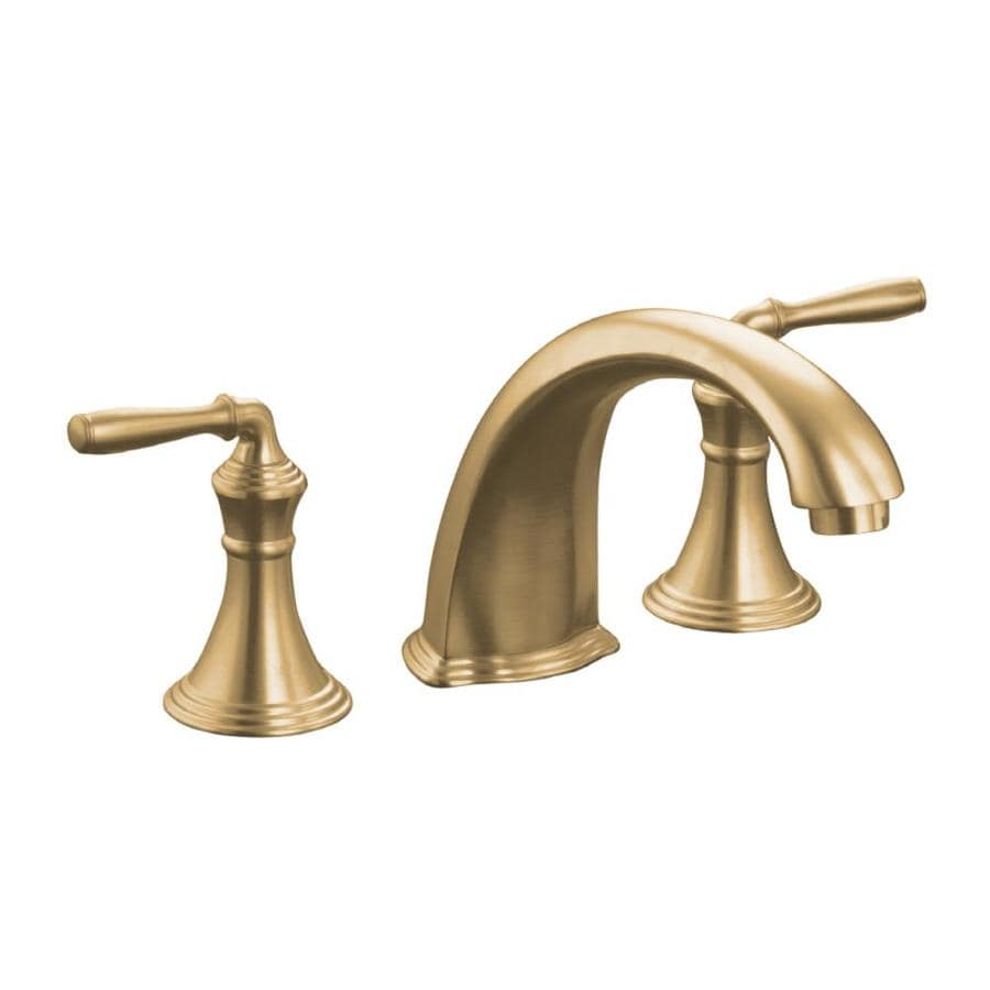 kohler devonshire vibrant brushed bronze 2handle fixed deck mount tub faucet - Kohler Devonshire