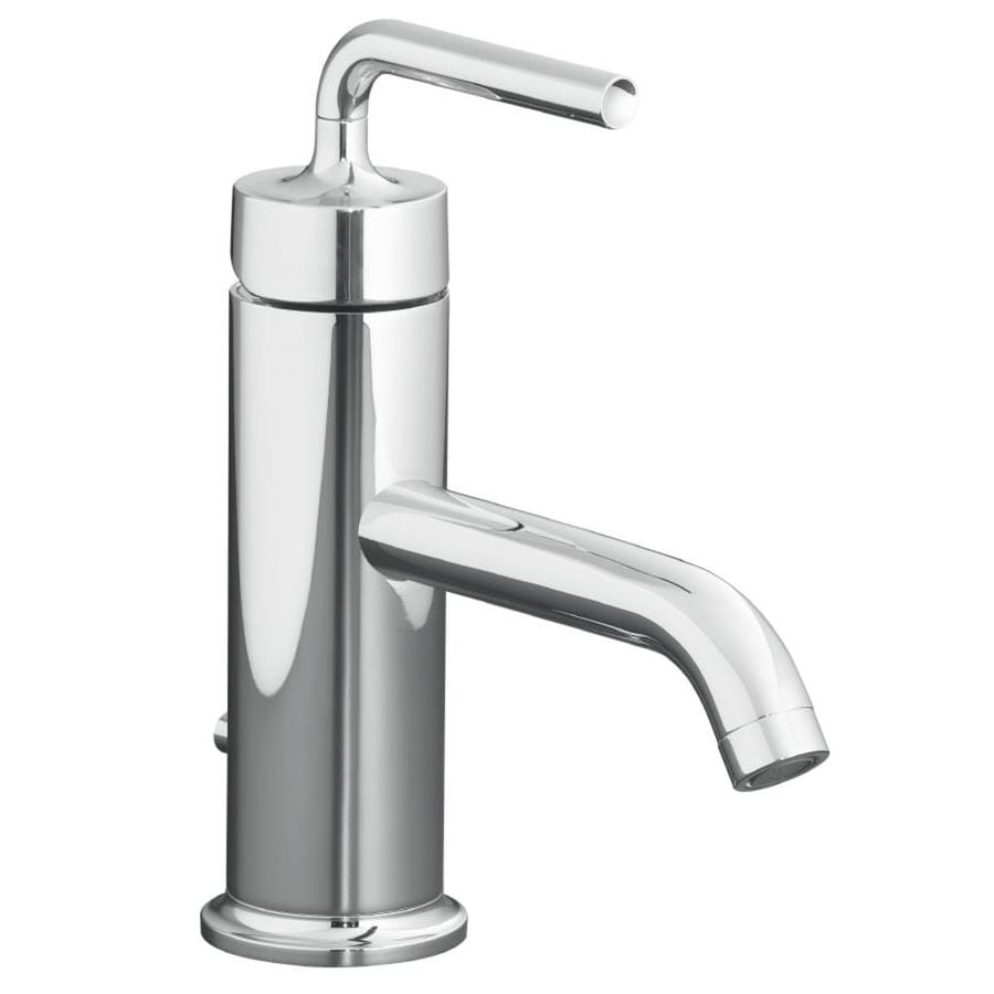 Shop Kohler Purist Polished Chrome 1 Handle Single Hole Bathroom Sink Faucet At