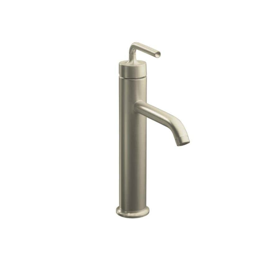 Kohler purist vibrant brushed nickel 1 handle single hole - Single hole bathroom faucets brushed nickel ...