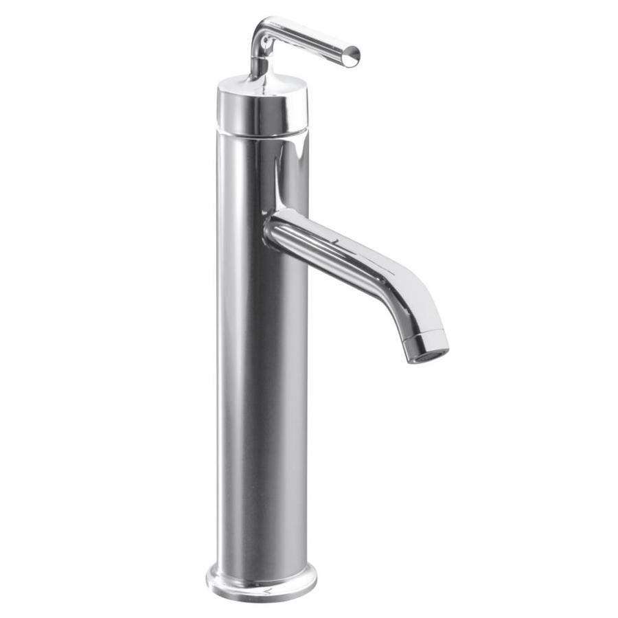 KOHLER Purist Polished Chrome 1-Handle Single Hole Bathroom Sink Faucet