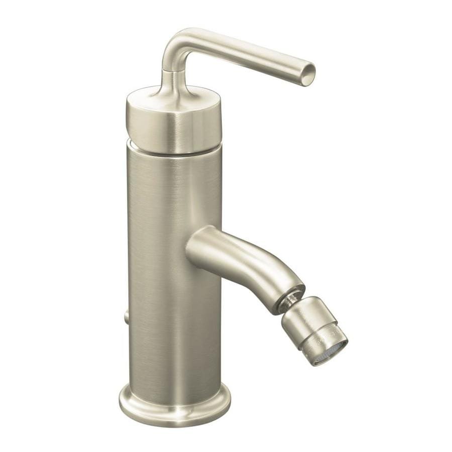 KOHLER Purist Vibrant Brushed Nickel Horizontal Spray Bidet Faucet