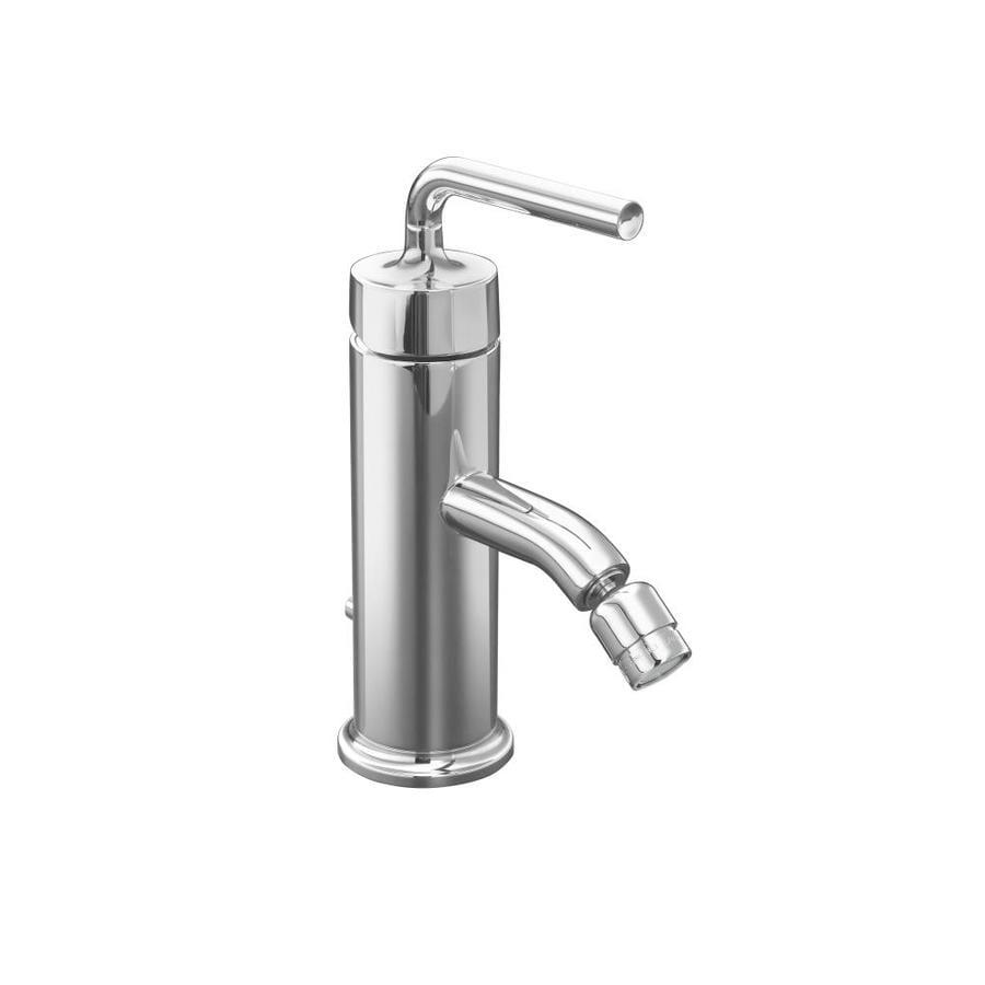 KOHLER Purist Polished Chrome Horizontal Spray Bidet Faucet