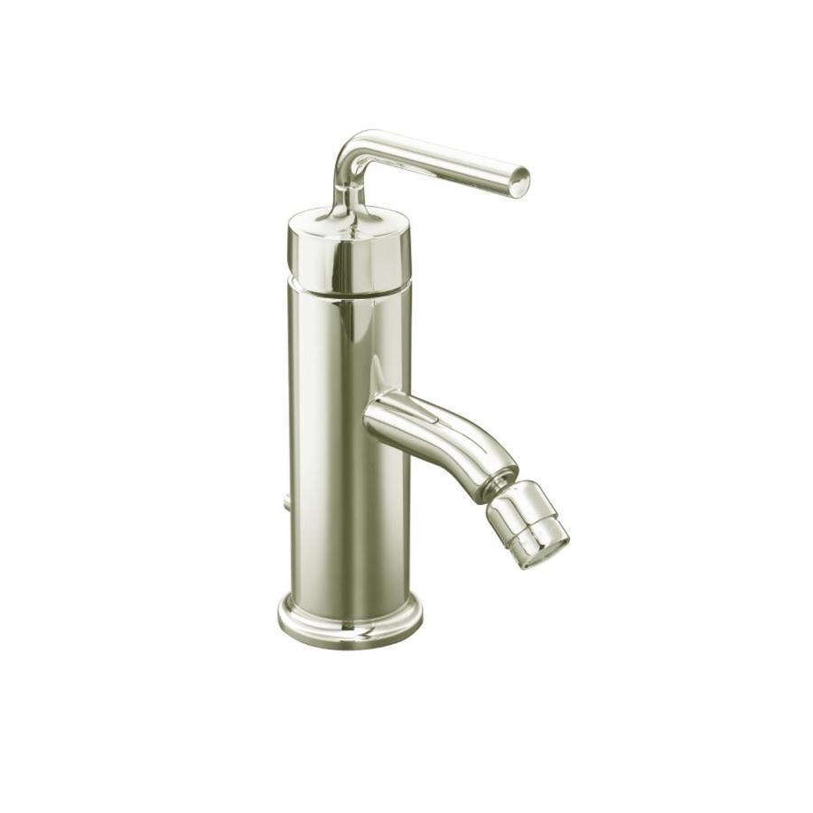 KOHLER Purist Vibrant Polished Nickel Vertical Spray Bidet Faucet