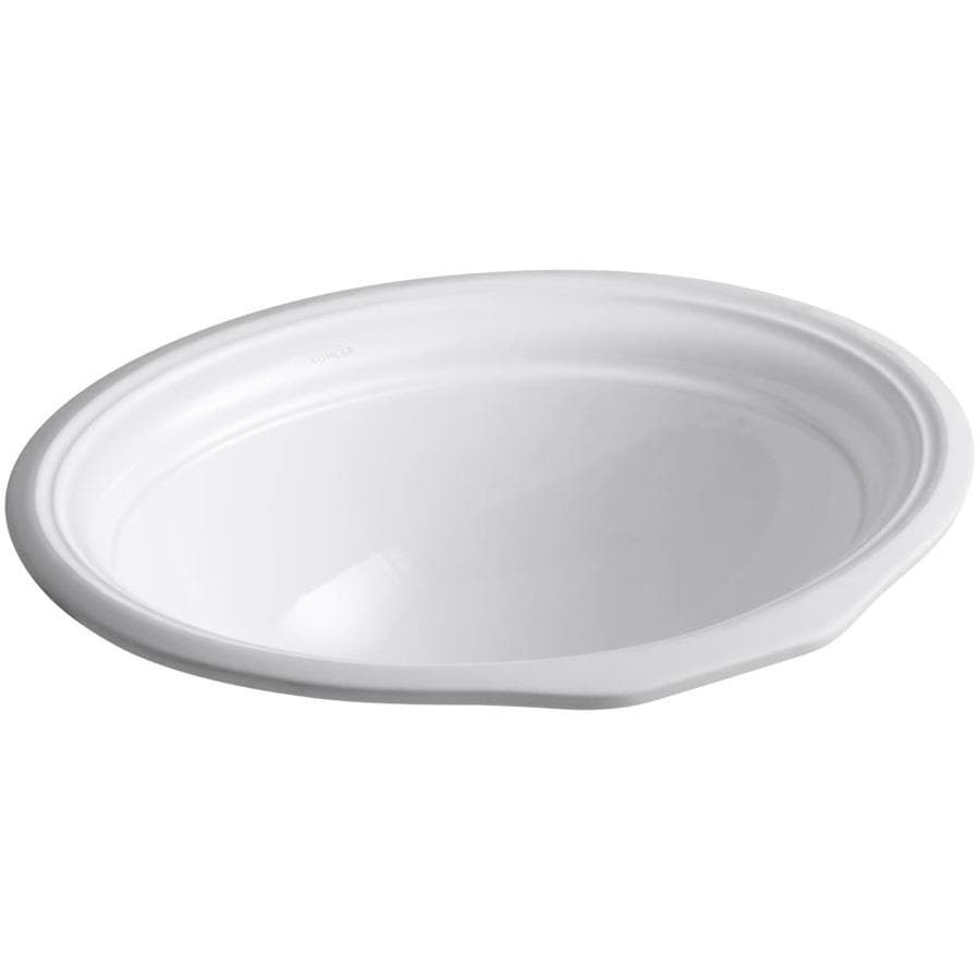 KOHLER Devonshire White Undermount Oval Bathroom Sink with Overflow