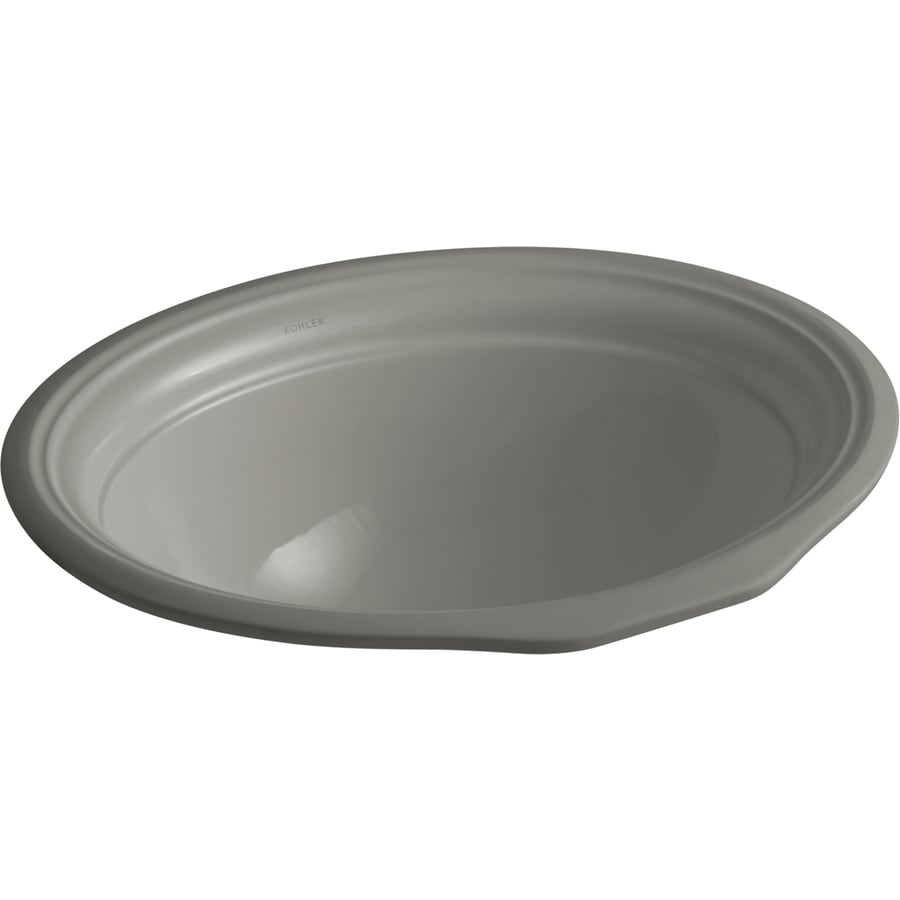 Shop KOHLER Devonshire Black Black Undermount Oval Bathroom Sink with ...