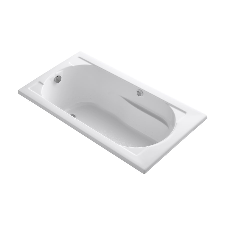 KOHLER Devonshire 60-in White Acrylic Drop-In Air Bath with Reversible Drain