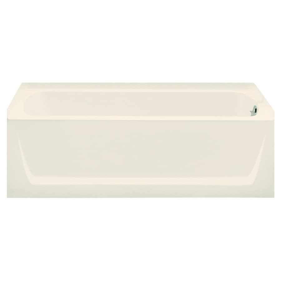 Sterling Ensemble 60.25-in Biscuit Vikrell Skirted Bathtub with Right-Hand Drain