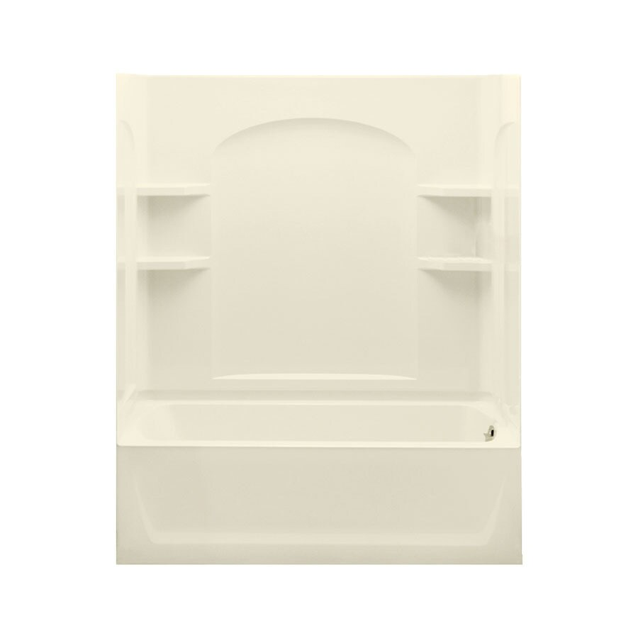Sterling Ensemble 60.25-in Biscuit Vikrell Alcove Bathtub with Right-Hand Drain