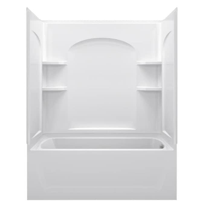 Sterling Ensemble AFD White 4-Piece Bathtub Shower Kit ...
