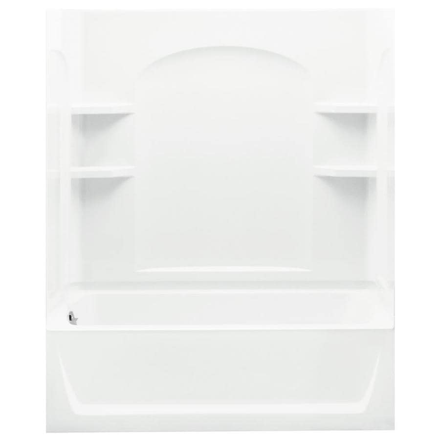 Sterling Skirted White Fiberglass and Plastic Composite Rectangular Skirted Bathtub with Left-Hand Drain (Common: 32-in x 60-in; Actual: 76-in x 32-in x 60.25-in)