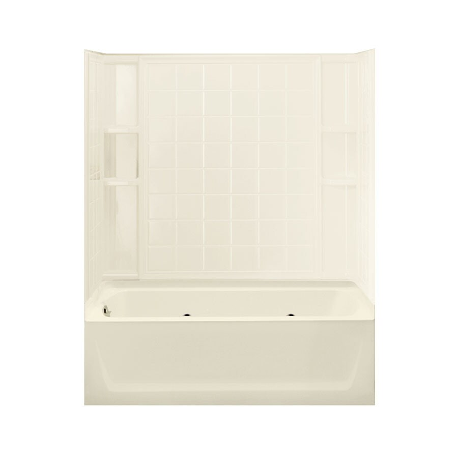 Sterling Ensemble 60.25-in Biscuit Vikrell Alcove Whirlpool with Left-Hand Drain
