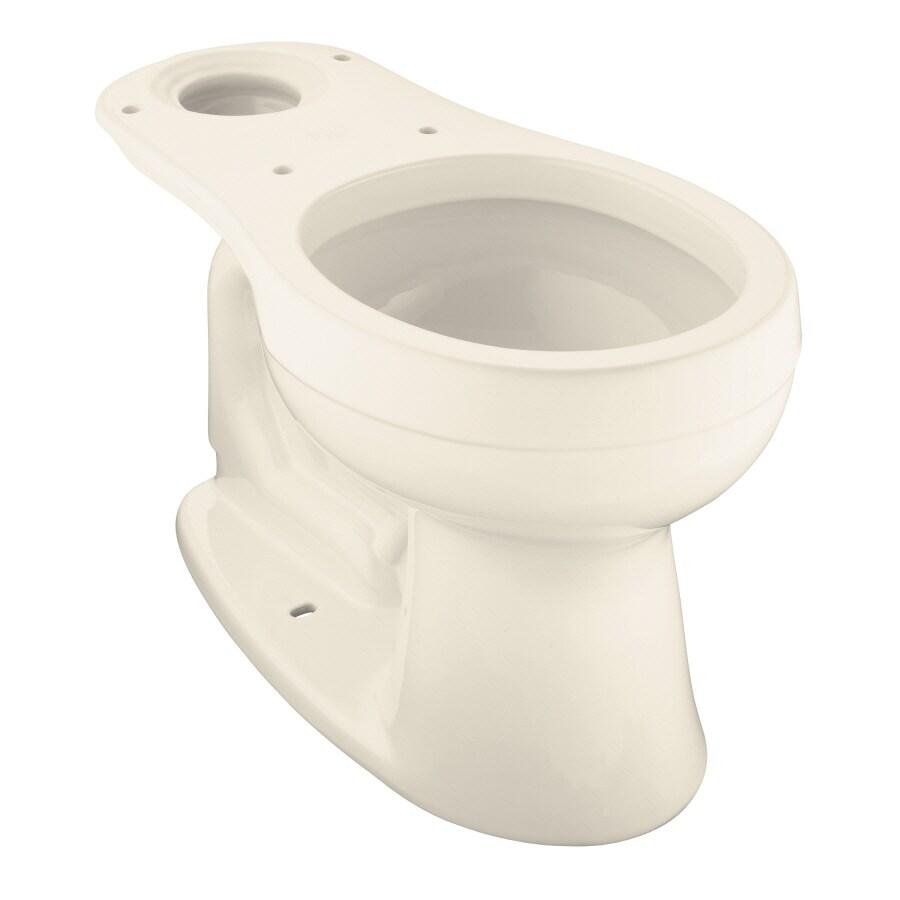 KOHLER Cimarron Chair Height Almond 12-in Rough-In Round Toilet Bowl