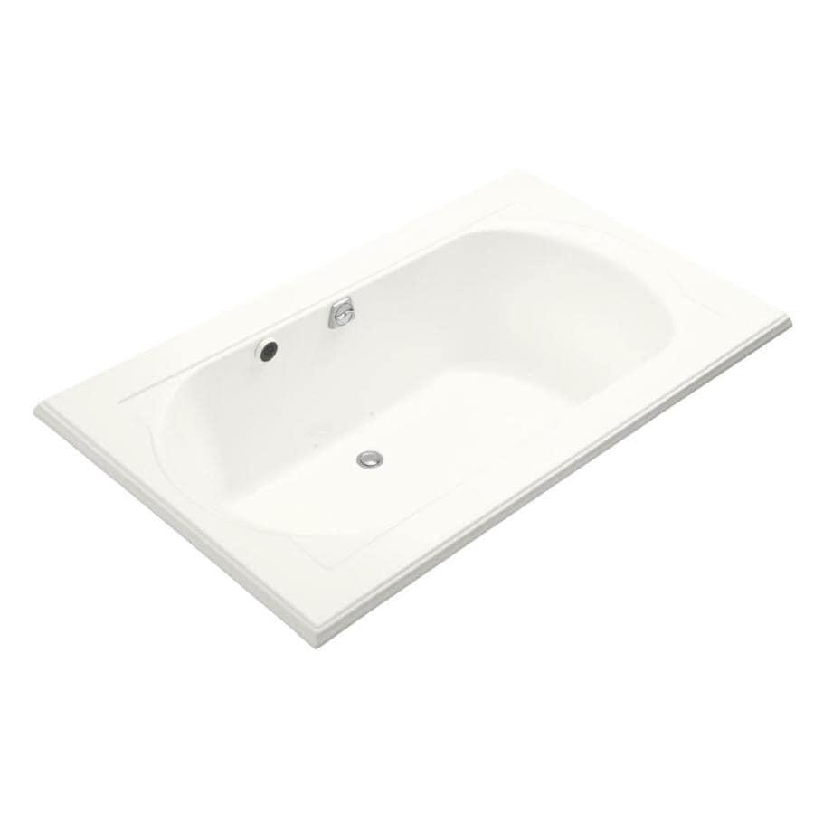 KOHLER Memoirs 72-in White Acrylic Drop-In Air Bath with Reversible Drain
