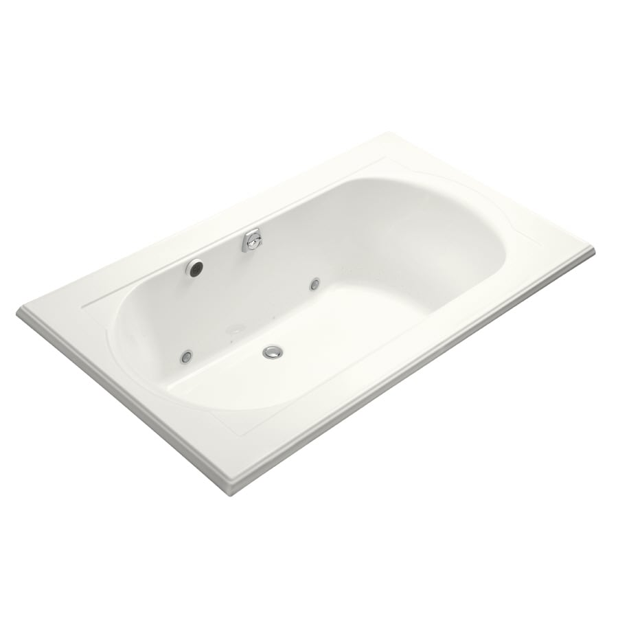 KOHLER Memoirs 72-in White Acrylic Drop-In Air Bath with Reversible Drain