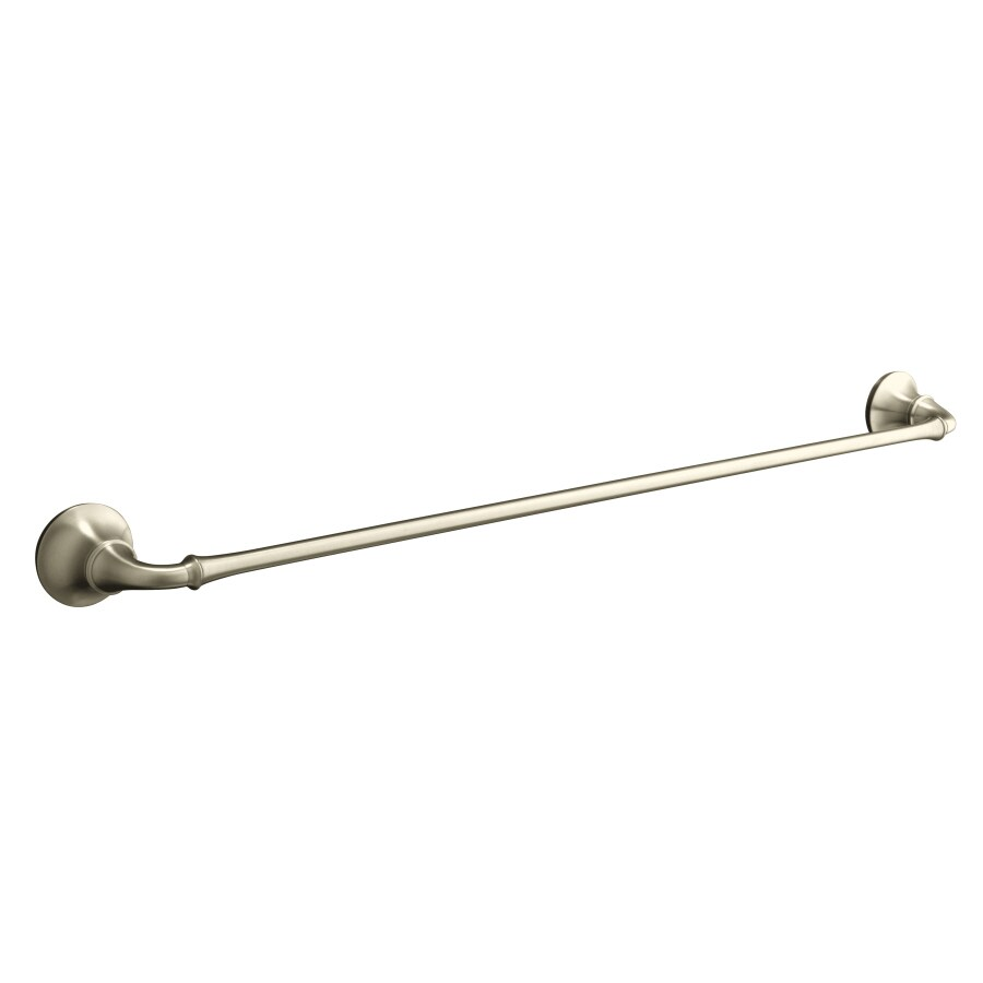 KOHLER Forte Vibrant Brushed Nickel Single Towel Bar (Common: 24-in; Actual: 26.5-in)