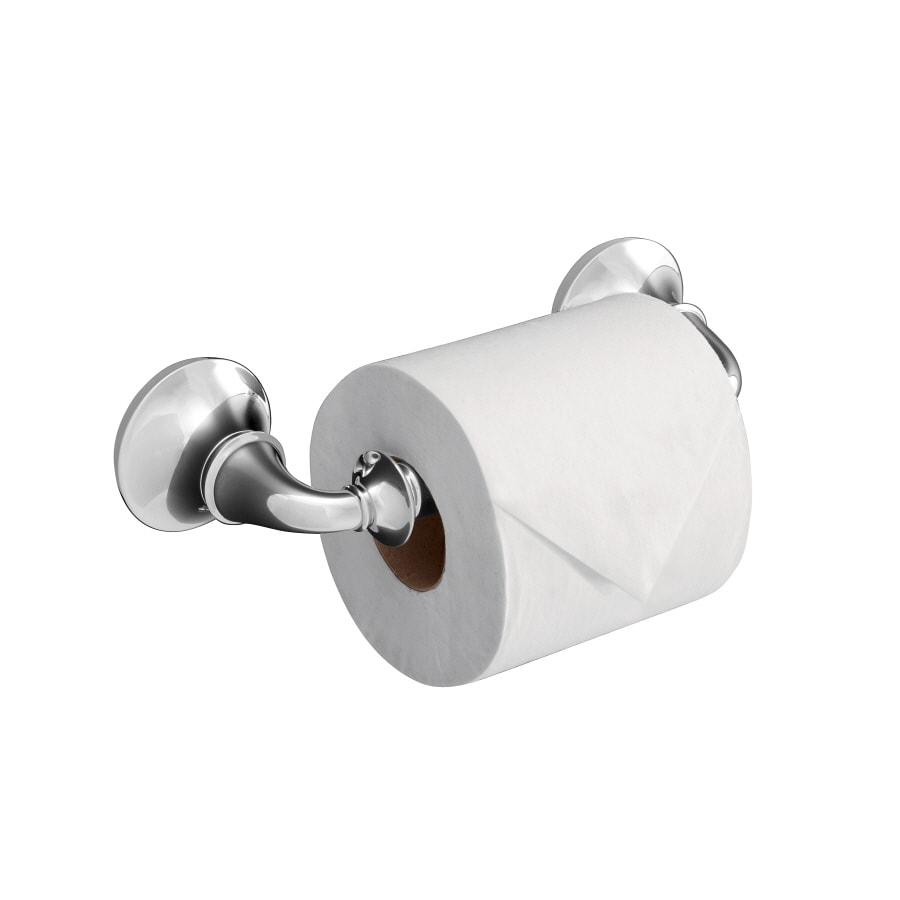 KOHLER Forte Polished Chrome Surface Mount Toilet Paper Holder