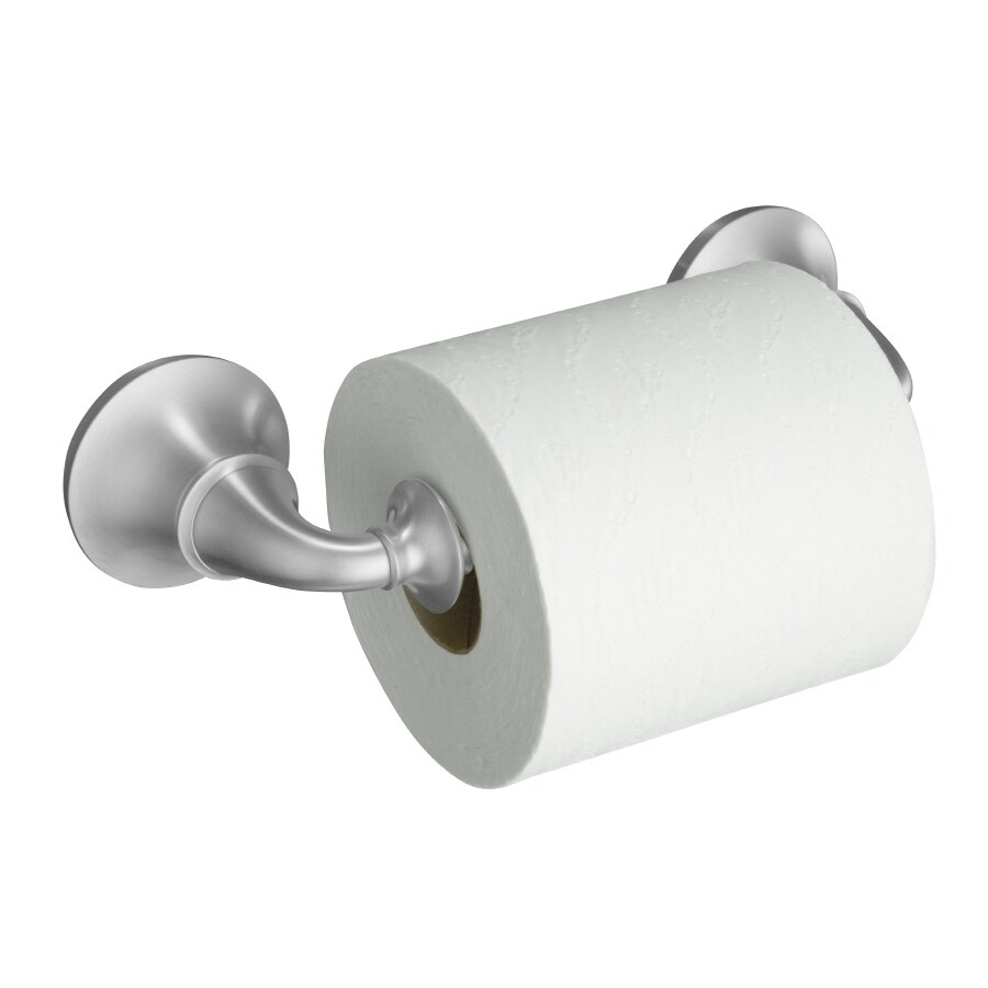 KOHLER Forte Brushed Chrome Surface Mount Toilet Paper Holder