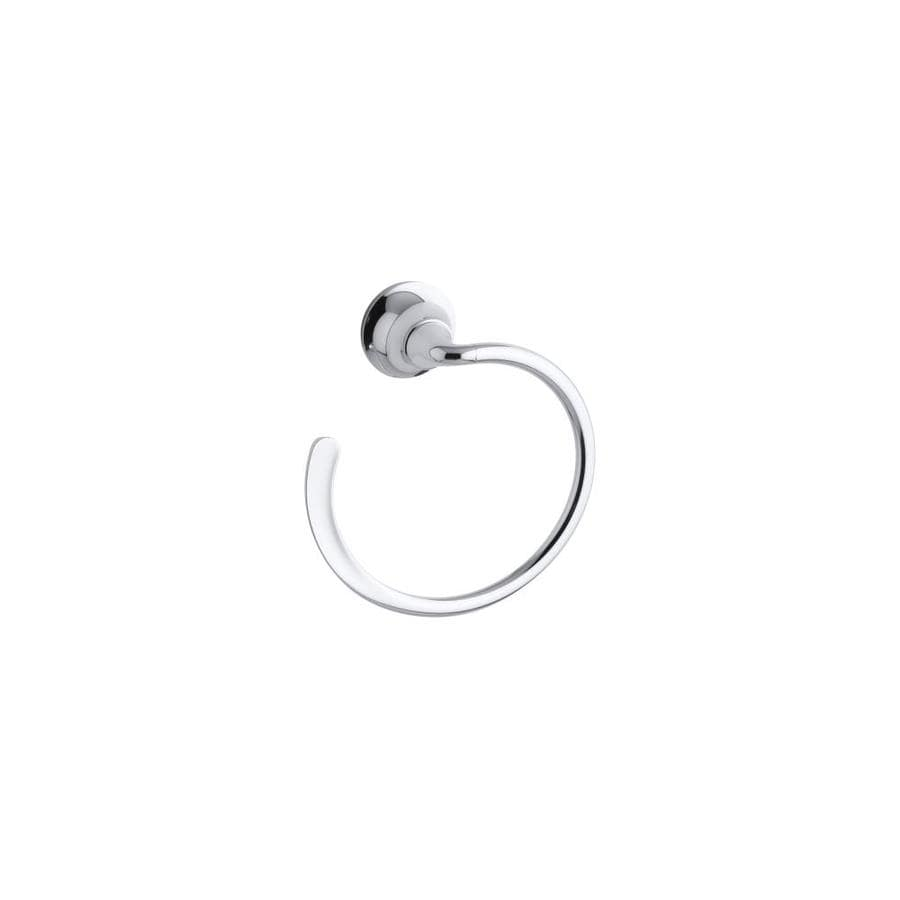 KOHLER Forte Polished Chrome Wall-Mount Towel Ring