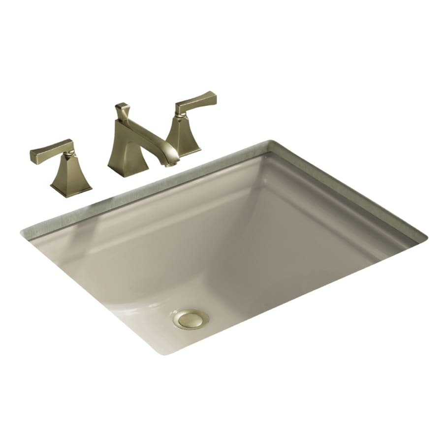 kohler undermount bathroom sink shop kohler memoirs sandbar undermount rectangular 19038