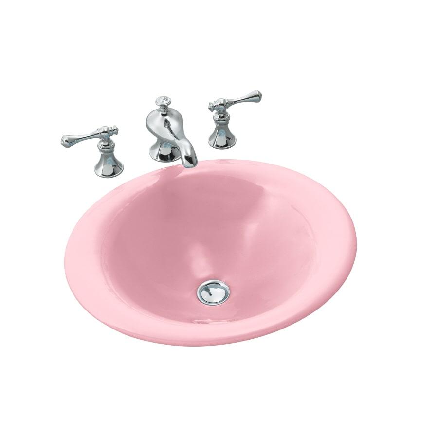 KOHLER Vapour Pink Cast Iron Vessel Bathroom Sink At Lowes.com