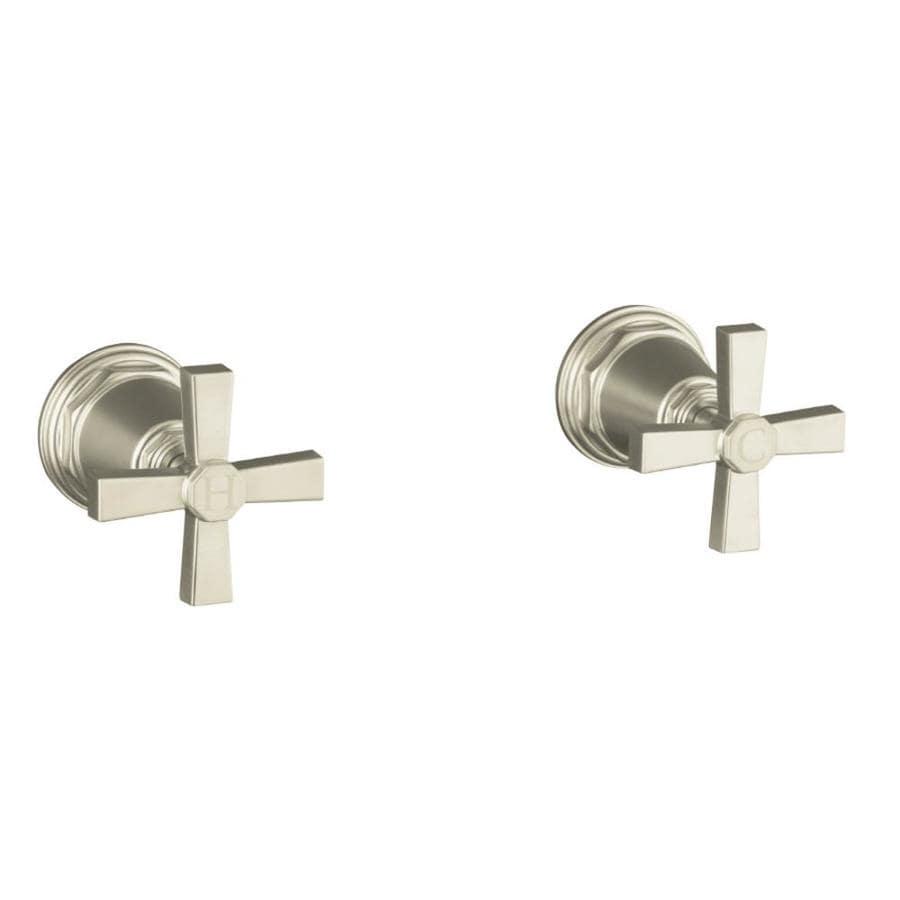 KOHLER Pinstripe Vibrant Brushed Nickel 2-Handle Deck Mount Bathtub Faucet