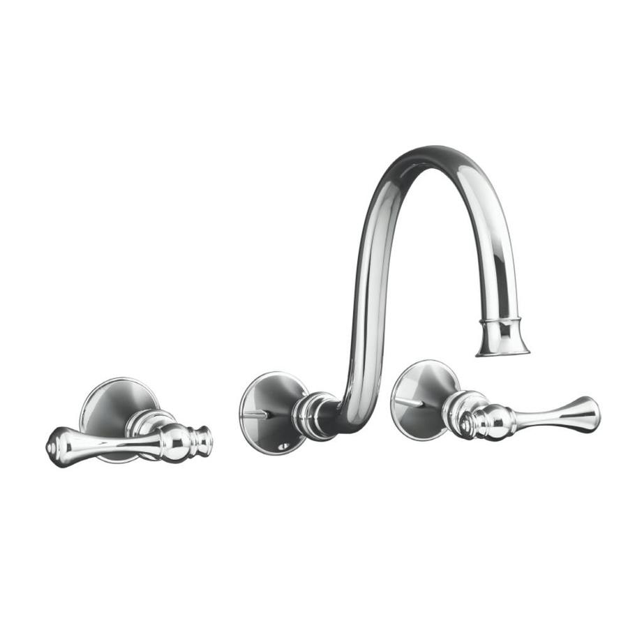 KOHLER Revival Polished Chrome 2-Handle Widespread WaterSense Bathroom Faucet