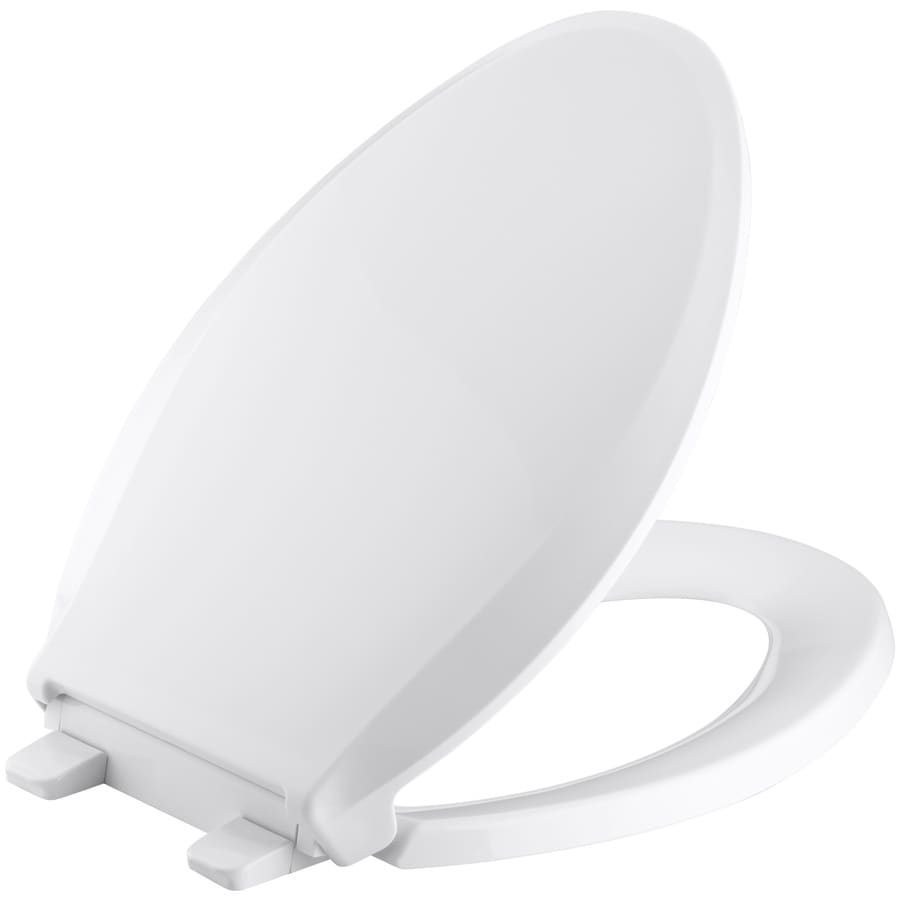 KOHLER Quiet Close Grip-Tight Cachet Plastic Elongated Slow-Close Toilet Seat