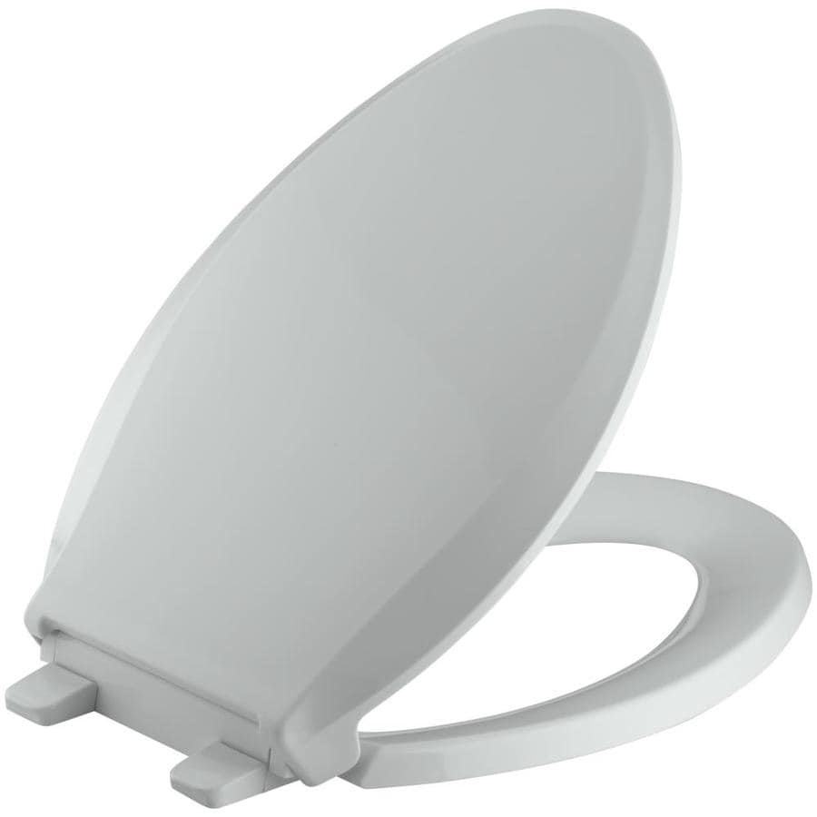 KOHLER Quiet Close Grip-Tight Cachet Plastic Elongated Slow Close Toilet Seat