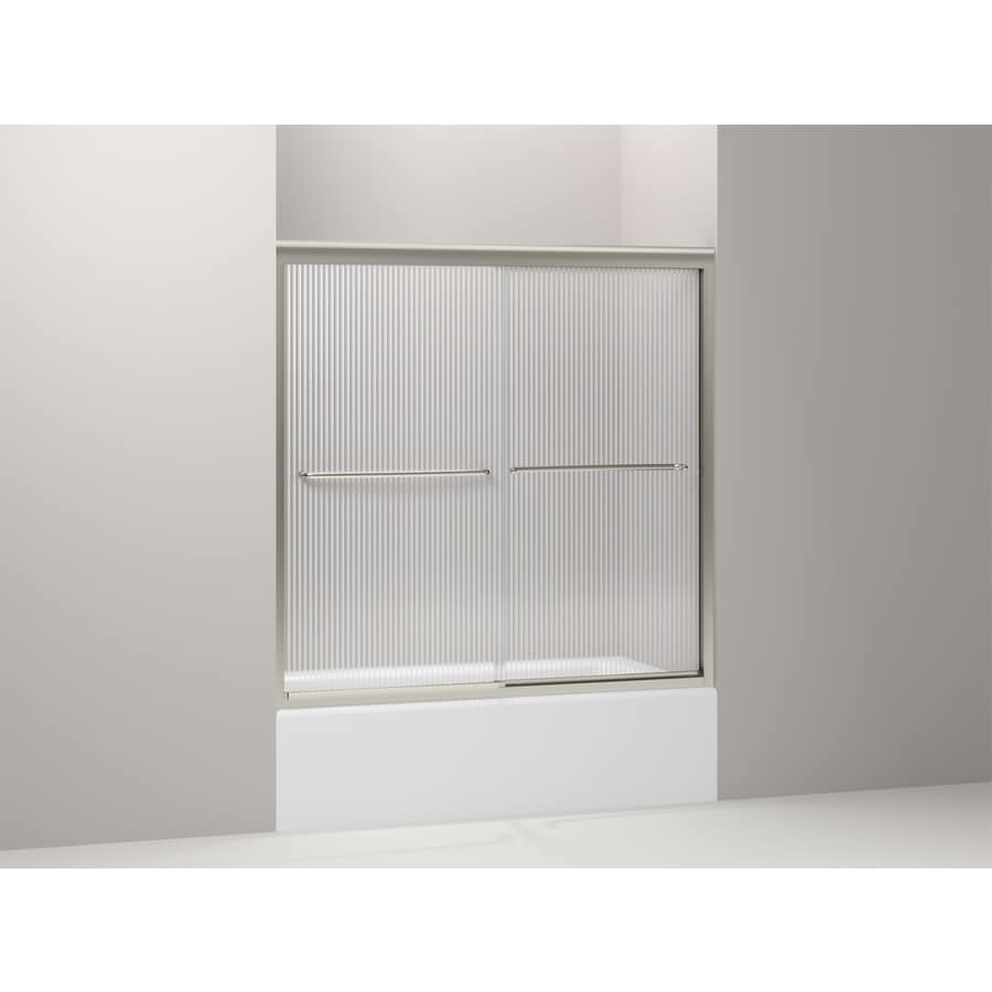 KOHLER Fluence 59.625-in W x 58.3125-in H Frameless Bathtub Door