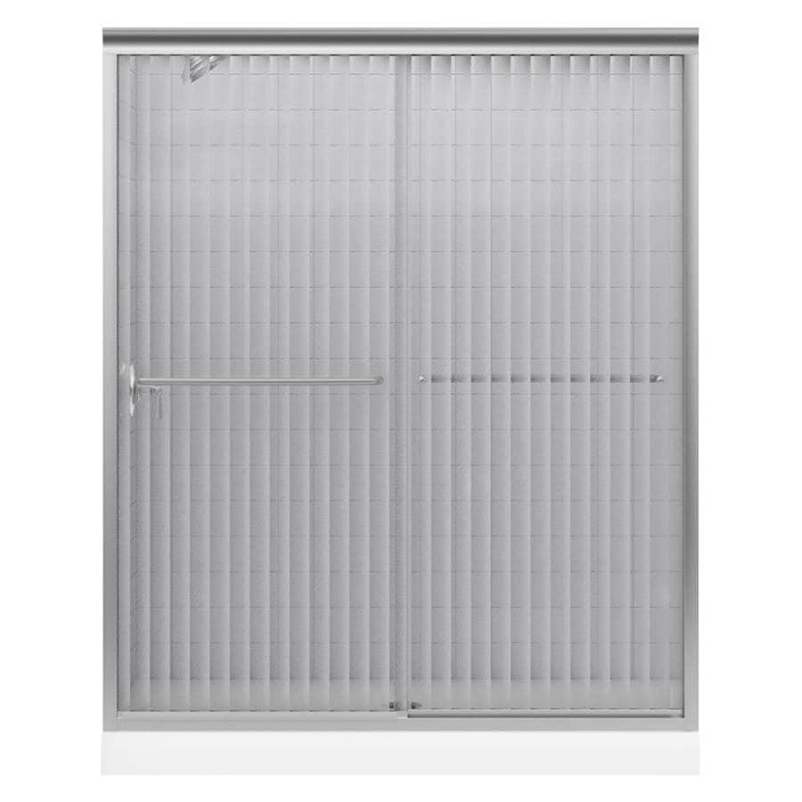 KOHLER Fluence 56-in to 59-in W x 70-in H Matte Nickel Sliding Shower Door