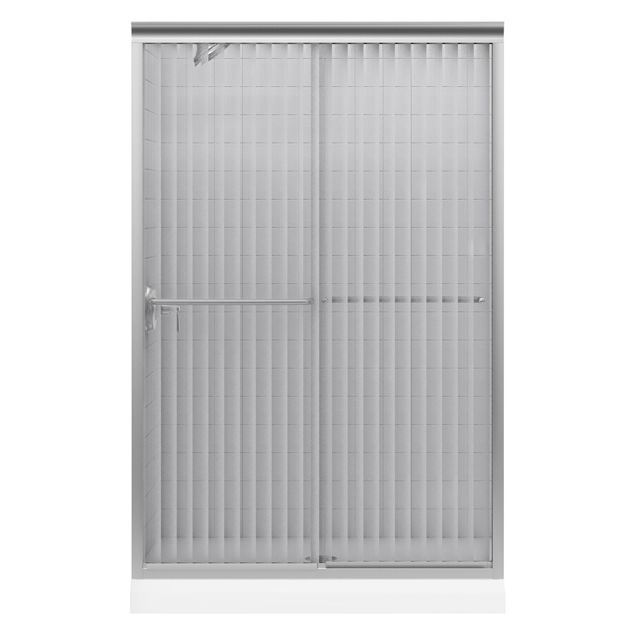 KOHLER Fluence 44.63-in to 47.63-in W Frameless Matte Nickel Sliding Shower Door