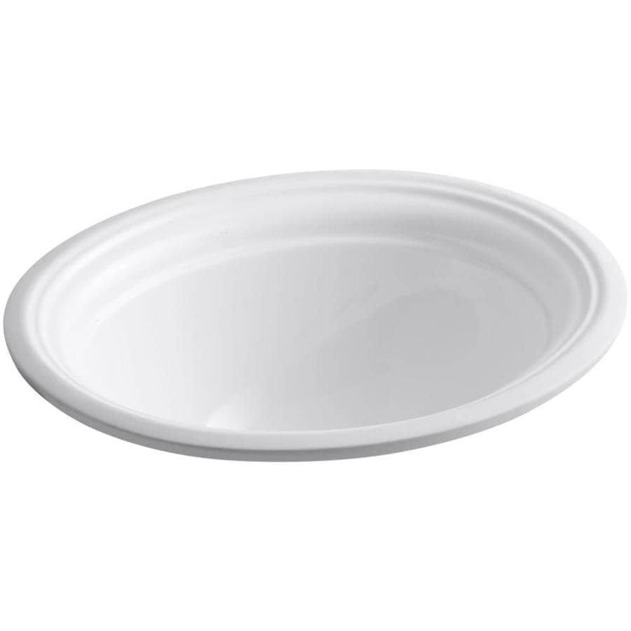 kohler devonshire white undermount oval bathroom sink with overflow - Kohler Devonshire