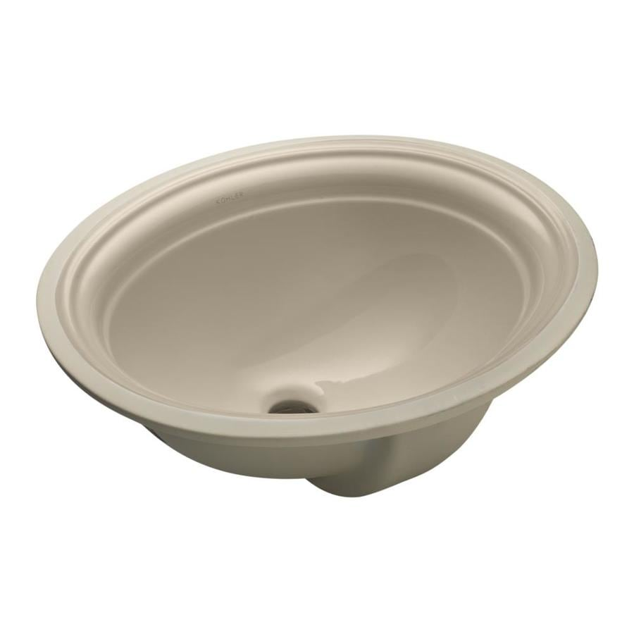 kohler undermount bathroom sink shop kohler devonshire sandbar undermount oval bathroom 19038
