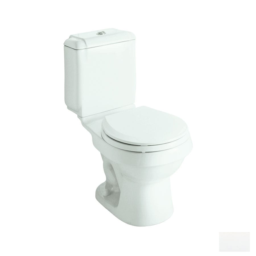 Sterling Rockton White WaterSense Labeled Dual Round Standard Height 2-piece Toilet 12-in Rough-In Size