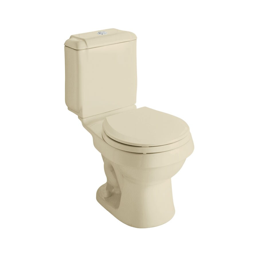 Sterling Rockton Almond 1.6; 0.8-GPF 12-in Rough-In WaterSense Round Dual-Flush 2-Piece Standard Height Toilet