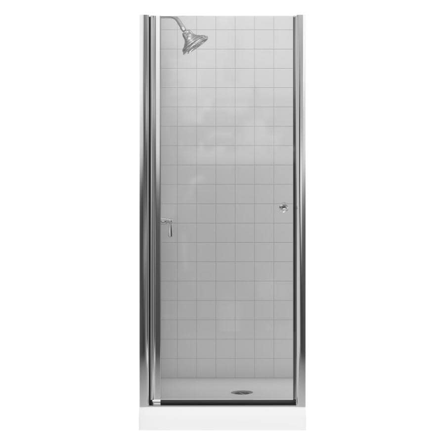 KOHLER 28-3/4-in to 30-1/4-in Frameless Pivot Shower Door