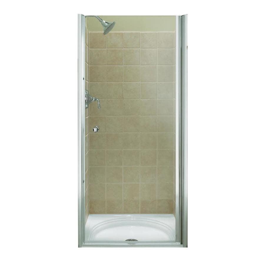 KOHLER Fluence 31.25-in to 32.75-in Frameless Pivot Shower Door