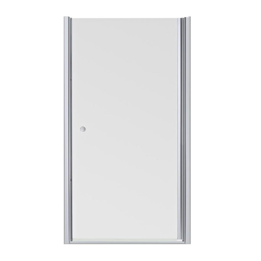 KOHLER Fluence 32.5-in to 34-in W Frameless Bright Silver Pivot Shower Door